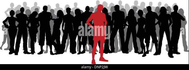 Standing crowd silhouette - photo#33
