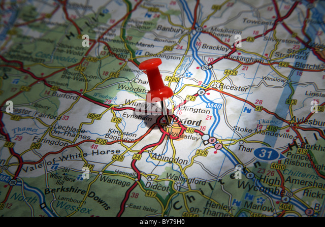 map of banbury england show cornwall on