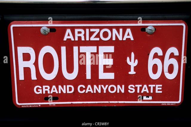 Az Car Registration: Registration Plate Arizona Stock Photos & Registration