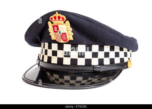 peaked cap policeman white background baseball espanol hat in spanish que significa en