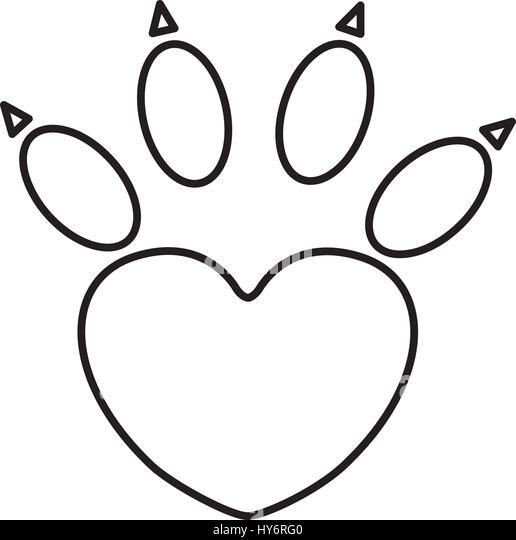 Paw Print Cute Dog Animal