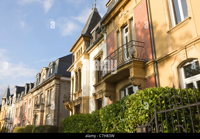 Luxembourg boulevard stock photos luxembourg boulevard for Luxembourg homes