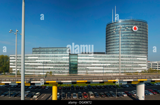 Vodafone Corporate Headquarters And Campus, Düsseldorf, Germany, Europe    Stock Image