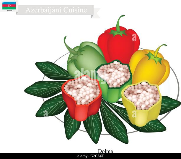 Azerbaijani Cuisine, Dolma or Traditional Cooked Rice and Meat Stuffed ...