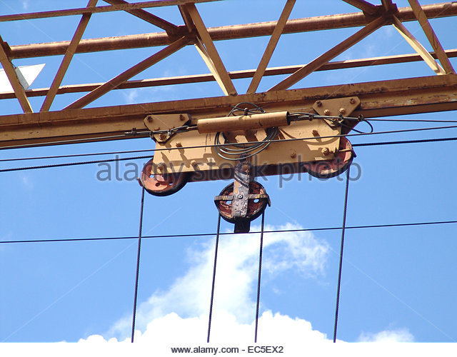Pulleys In Cranes : Pulley and weight stock photos