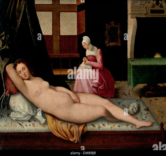 Venus Reclining (c.1510) after Titian School of Fontainebleau France French - Stock  sc 1 st  Alamy & Venus Reclining C 1510 After Titian Stock Photos u0026 Venus Reclining ... islam-shia.org