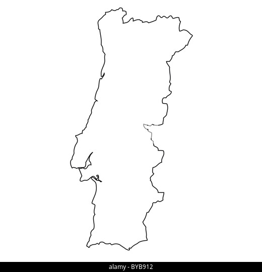 Outline Map Portugal Stock Photos Outline Map Portugal Stock - Portugal map black and white