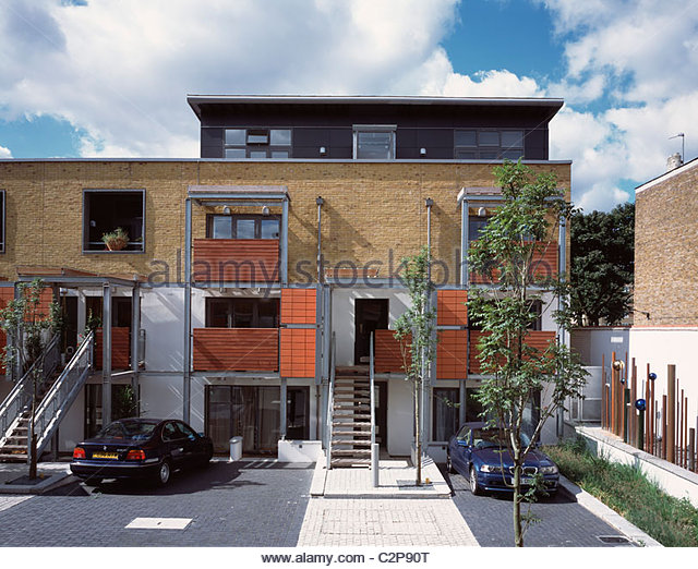 Front Elevation Of Houses In London : London mews house stock photos