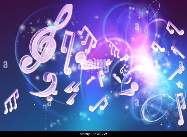 Neon Music Notes Background: Abstract Music Notes Background Neon Stock Photos