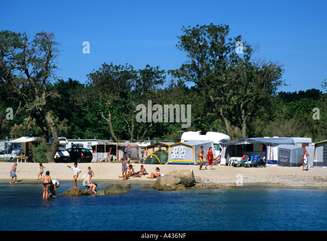 camping france beach stock photos camping france beach. Black Bedroom Furniture Sets. Home Design Ideas