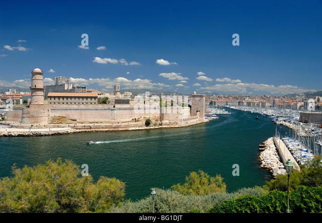 Fort france marseille mediterranean stock photos fort france marseille mediterranean stock - Club house vieux port marseille ...