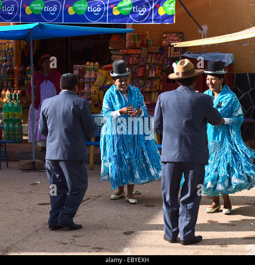 March Holidays In Bolivia: Traditional Bolivian Men Stock Photos & Traditional