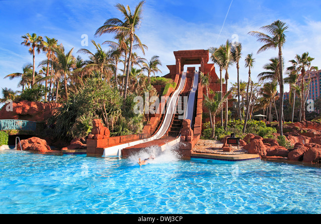 Paradise island bahamas stock photos paradise island for Atlantis pools