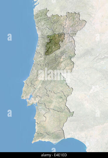 Map Satellite Geography Portugal Stock Photos Map Satellite - Portugal map viseu