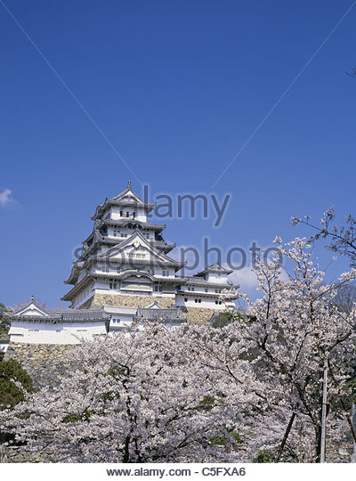 Himeji Castle And Cherry Blossoms Stock Photos & Himeji Castle And Cherry...