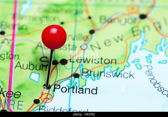 City Of Portland Maine Stock Photos City Of Portland Maine Stock - Portland usa map