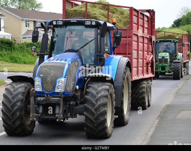 New Holland Tractor Bedding : Cattle bedding stock photos images