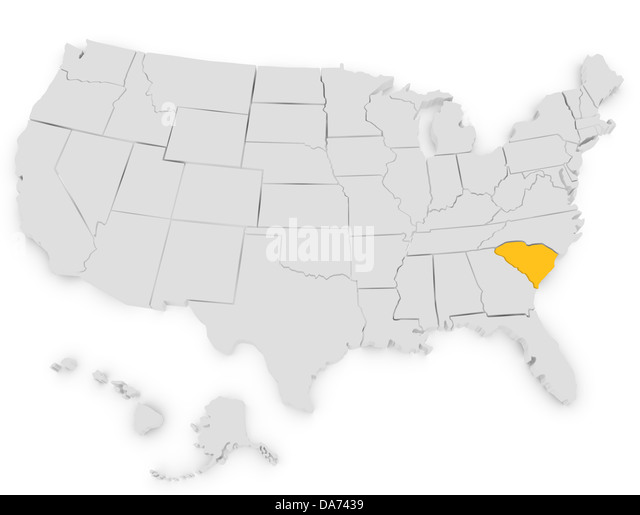 3d Map South Carolina Stock Photos 3d Map South Carolina Stock