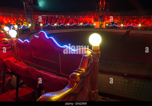 Circus arena interior. Blue and red lights. Inside - Stock Image & Interior Circus Tent Stock Photos u0026 Interior Circus Tent Stock ...