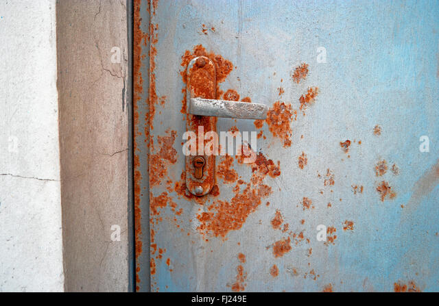 Rusty Door rusty door handle stock photos & rusty door handle stock images