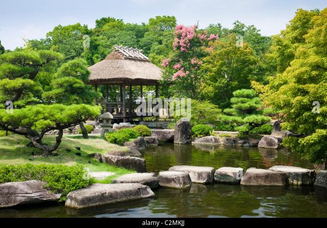 The Koko En Royal Gardens In Himeji, Japan   Stock Image