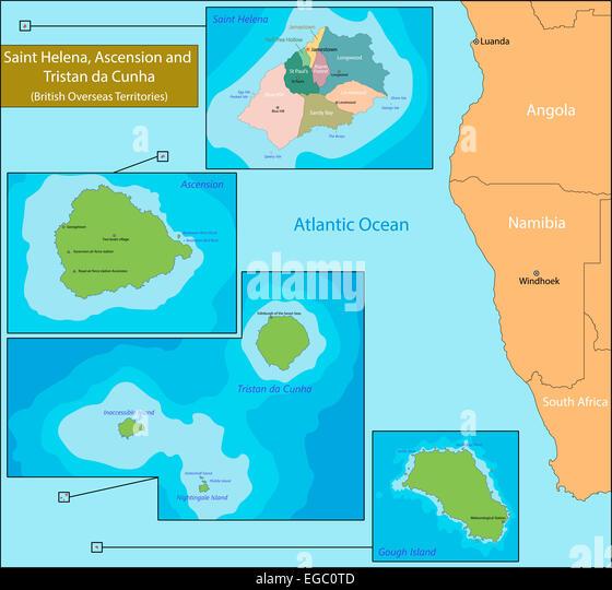 Tristan Da Cunha Archipelago Stock Photos Tristan Da Cunha - Tristan da cunha map
