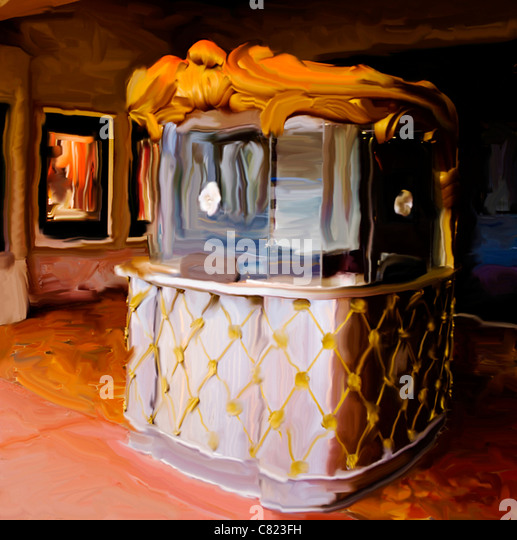 how to make a movie ticket booth