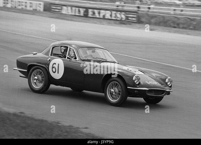 Lotus Elite B.M Wetheillr Silverstone 3/6/1961.   Stock Image