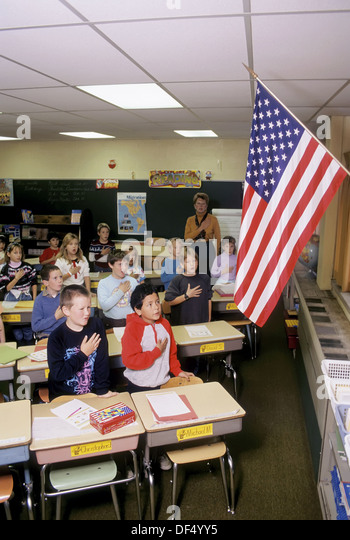pledge of allegiance in school An indianapolis high school is the target of a national secular society's ire after a  teacher at the school said he was reprimanded for telling.