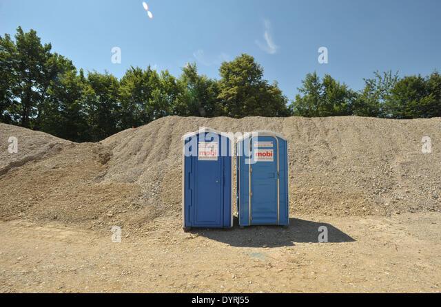 Construction Site Toilets : Construction site toilet stock photos