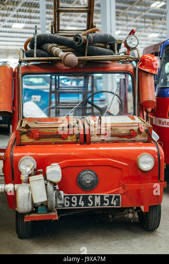 Vintage Fire Truck Car   Stock Image