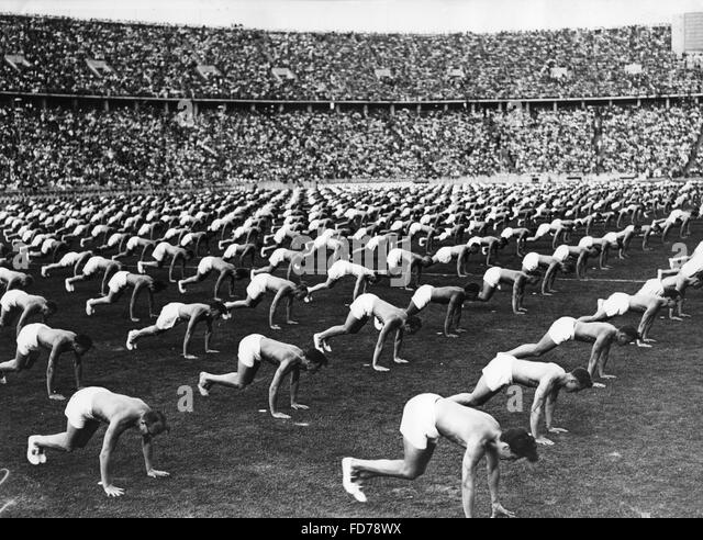 1936 Olympic Stadium Berlin Black and White Stock Photos & Images ...