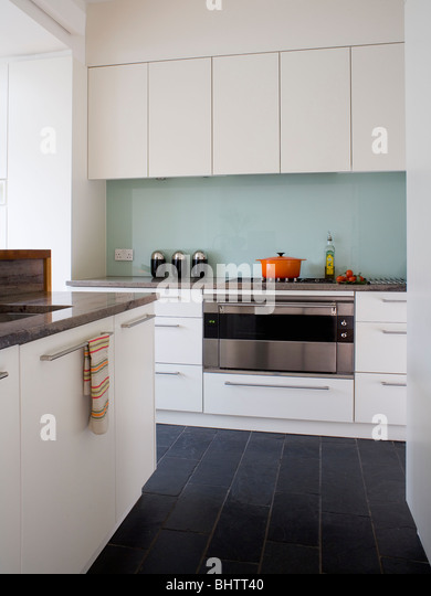 White Kitchen Black Floor white kitchen splash back stock photos & white kitchen splash back