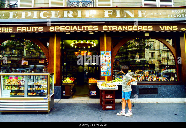 Epicerie Shop French Stock Photos & Epicerie Shop French Stock ...