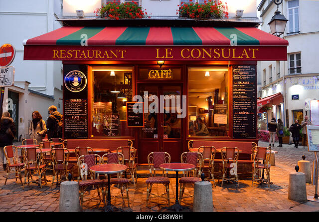 Consulat stock photos consulat stock images alamy for Restaurant le miroir montmartre