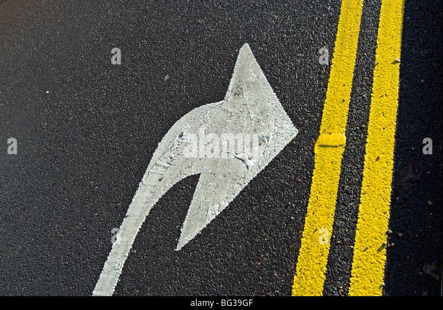 Road Markings Arrow Stock Photos & Road Markings Arrow ...