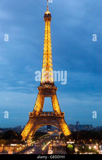 Eiffel Tower Restaurant France Stock Photos Eiffel Tower Restaurant F