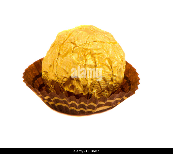 Chocolate Wrapped In Gold Foil Stock Photos & Chocolate Wrapped In ...