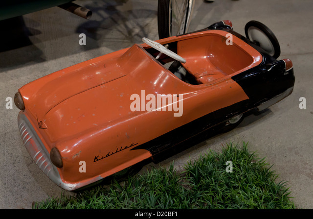 1950s vintage kids pedal car toy stock image
