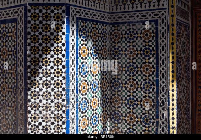 Zellige Tiles In Fez Stock Photos Zellige Tiles In Fez