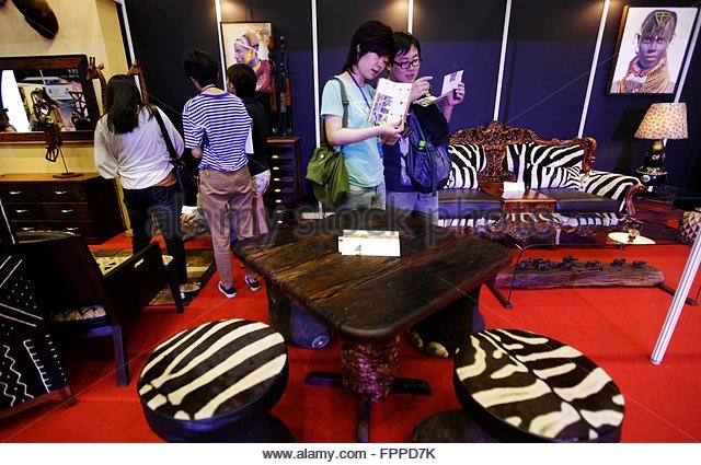 visitors look at african themed furniture on display at the luxury china 2012 exhibition in beijing african themed furniture