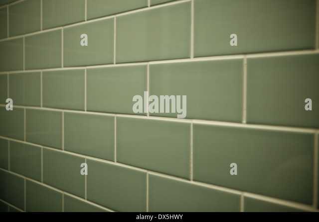 Light Green Brick Shaped Tiles   Stock Image