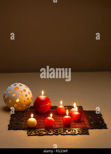 Diwali celebration candles stock photos diwali for Decoration wax