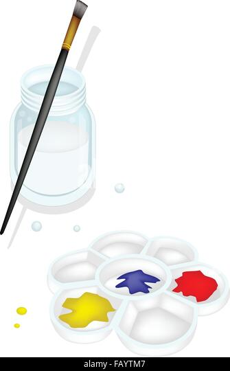 how to clean plastic paint palette