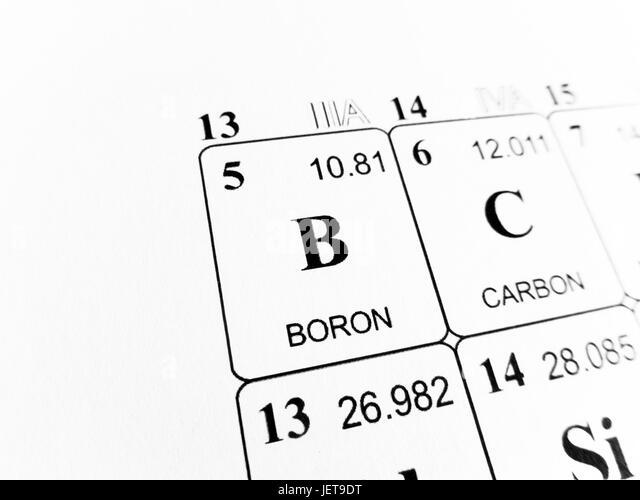 Symbol Chemical Element Boron Black And White Stock Photos Images