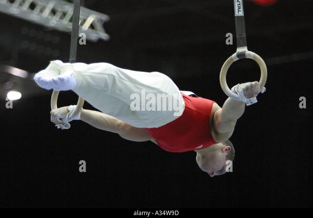 Bulgarian Gymnast On Rings