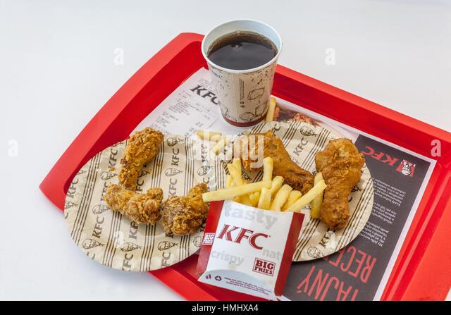 Kfc menu stock photos kfc menu stock images alamy - Kentucky french chicken ...