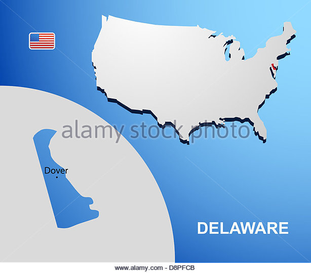 Delaware State Map Stock Photos Delaware State Map Stock Images - Delaware usa map