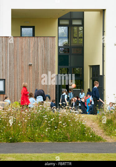 Play School Front Elevation : Lairdsland stock photos images alamy
