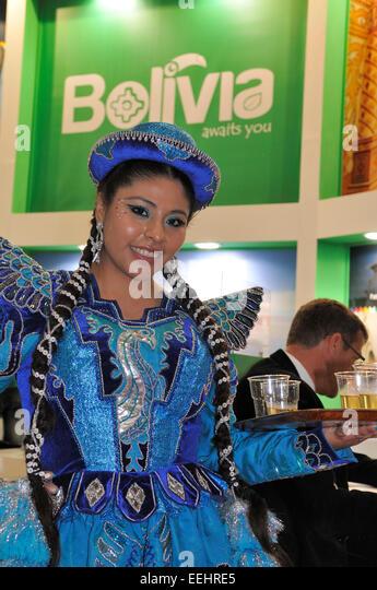 Expo Stand Bolivia : International trade mart stock photos